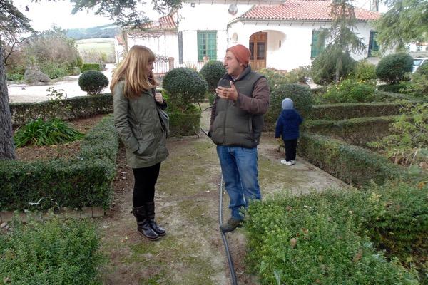 Gartenanlage auf dem Weingut