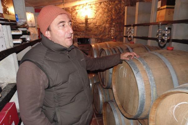 Friedrich Schatz im Weinkeller