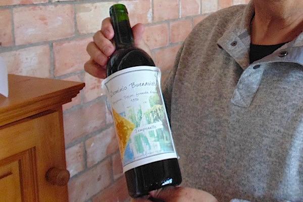 Weinflasche vom ersten Jahrgang 1996