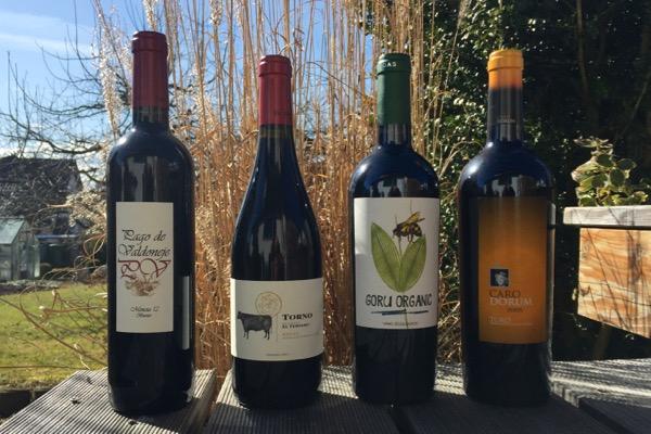 Vier spanische Weine