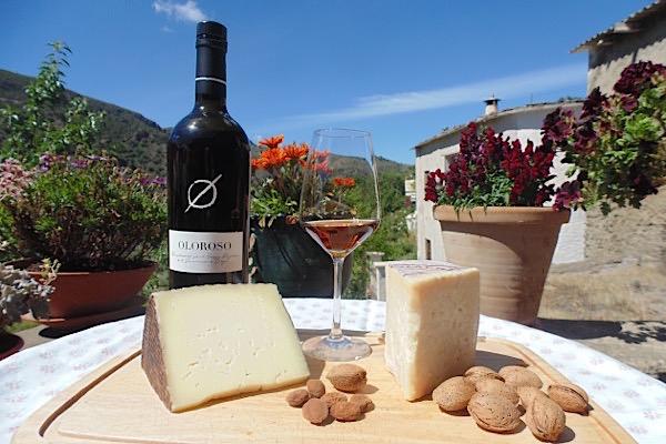 Sherry Oloroso mit Käse aus der Alpujarra und La Mancha