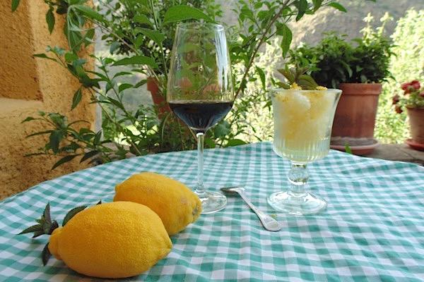 Zitronensorbet und PX