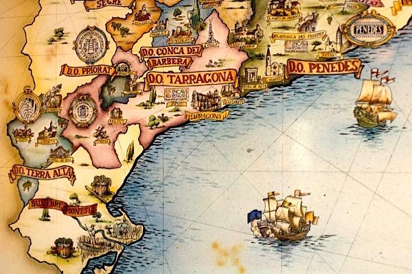 Karte Weingebiete Katalonien