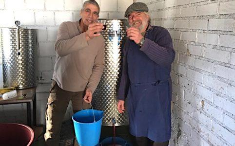 Pipe und Thierry mit neuem Wein