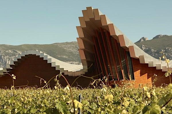 Ysios Weinkellerei, Rioja, Detailaufnahme