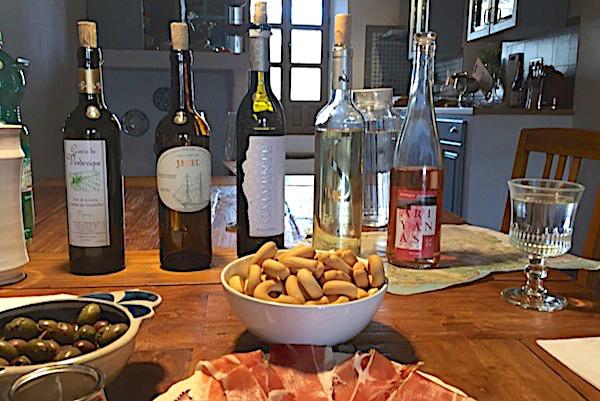 Weiß- und Roséweine für das Tasting