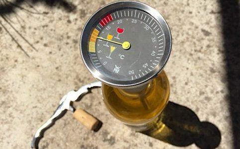 Weintemperatur. Weinthermometer
