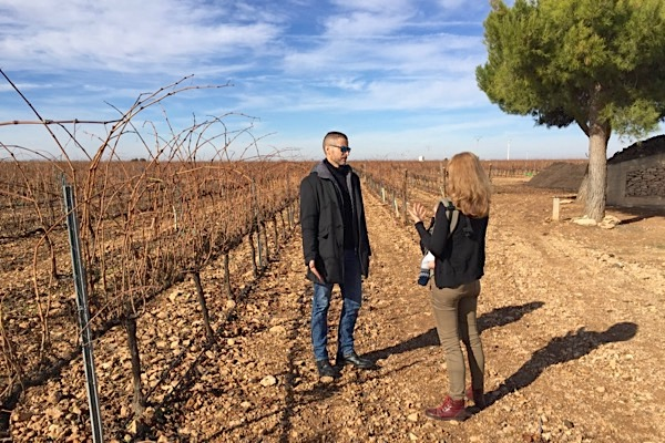 Im Weinberg mit Juan Carlos