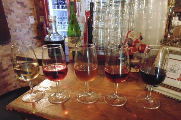 Variationen des Vino Málaga