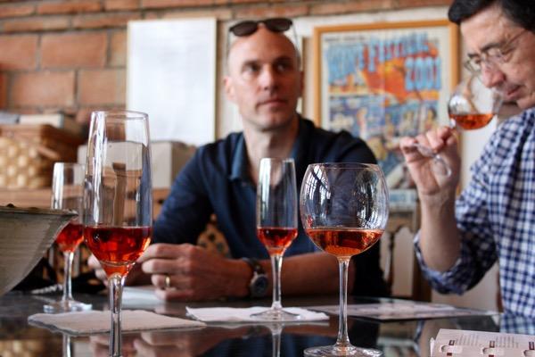 Thomas und Michael beim Tasting