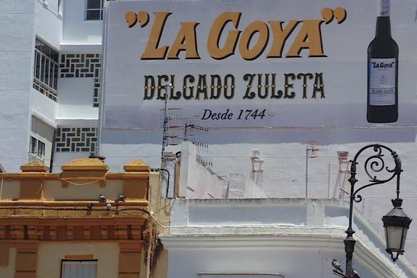 Werbung an Haus in Sanlucar