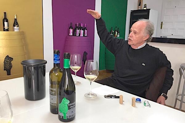 Antonio López bei der Verkostung