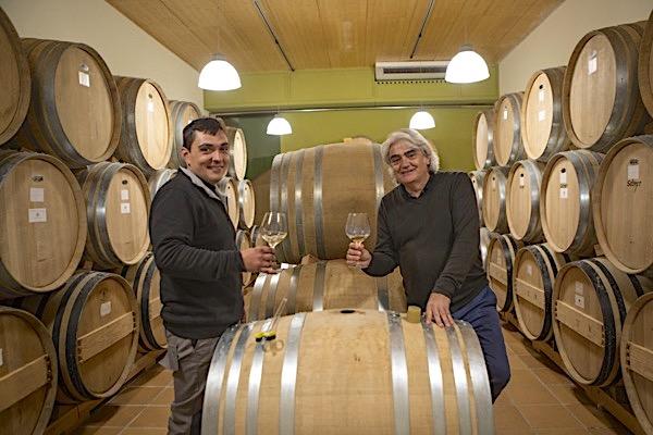 Joan Àngel Lliberia mit Co-Weinmacher Lluis Otero