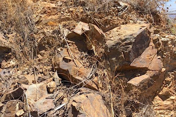 Böden ohne Boden in den Montes de Málaga.