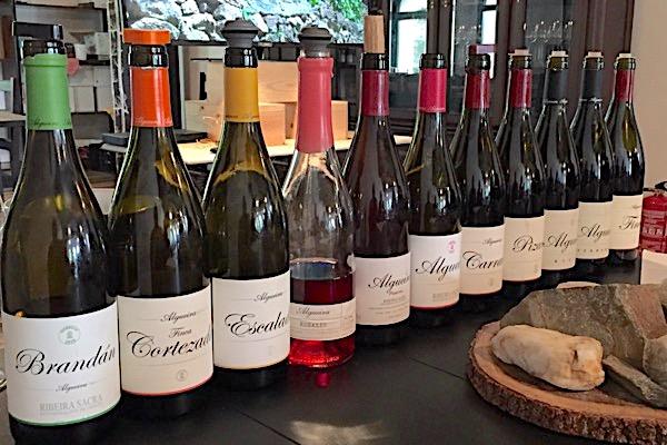 Top-Weine und Degustation bei Adega Algueira.