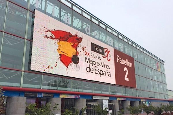 Eingang Salon de los Mejores Vinos. Feria Madrid.