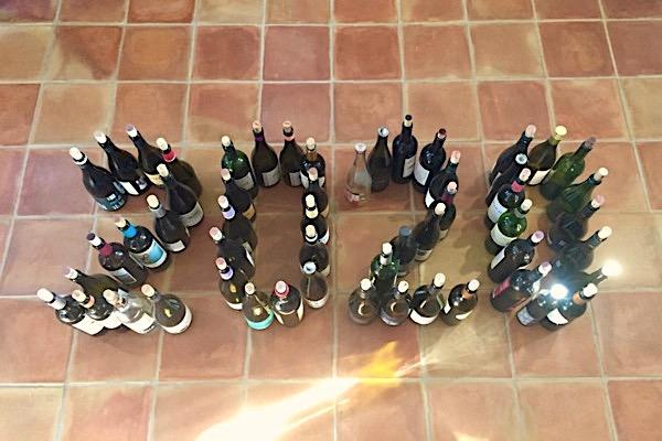 Alte Flaschen von 2019. 2020 darf kommen.