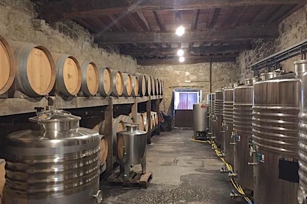 Im Weinkeller von Palacio de Fefiñanes