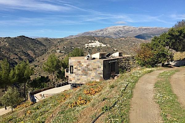Bodegas Bentomiz in der Axarquia. Provinz Málaga.
