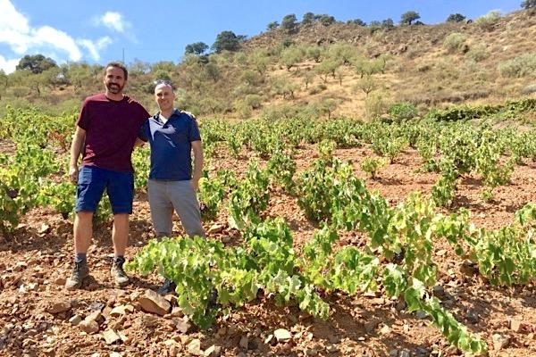 Mit Vicente Inat in einem Romé-Weinberg auf gut 900 m Höhe in der Axarquia