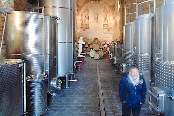 Mit Flavio Salesi bei Descalzos Viejos. Heute Weingut, früher Kloster.