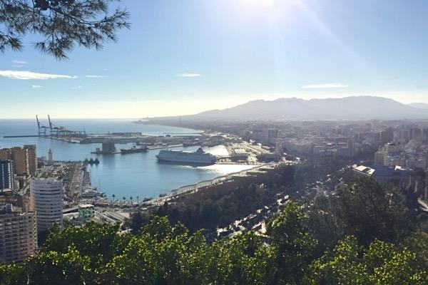 Málaga an der Costa del Sol.