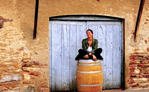 Verónica Ortega vor ihrer Bodega im Bierzo