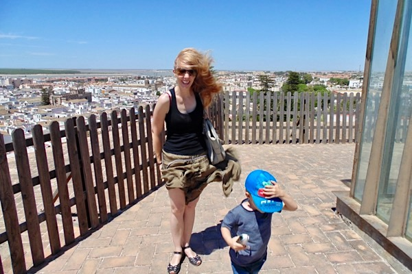 Emily in Sanlúcar de Barrameda.
