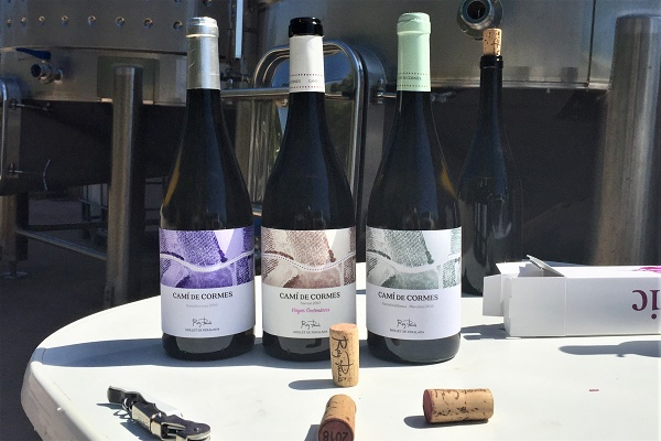 Drei klasse Weine aus autochthonen Rebsorten. Cami de Cormes. Roig Parals.