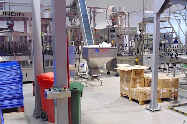 Eine Ecke in einer Weinfabrik.