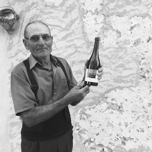 Der Weinbauer, der den Forcalla-Weinberg Anfang der 1960er gepflanzt hat. Der Wein ist nach seiner Frau Antonia benannt.
