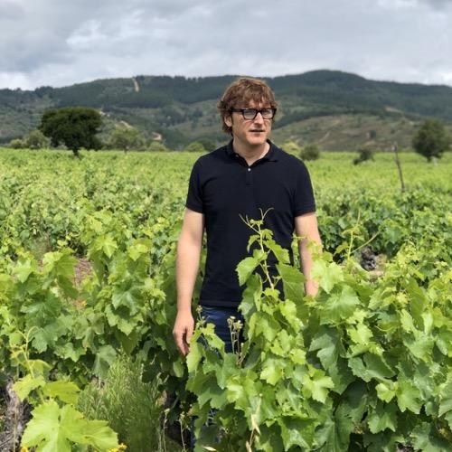 Weinmacher Amancio Fernández im Weinberg