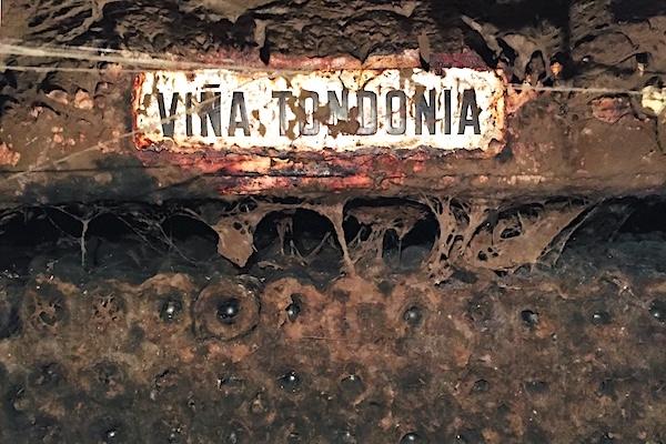 Flaschenlager bei Vina Tondonia, Haro, Rioja Alta.