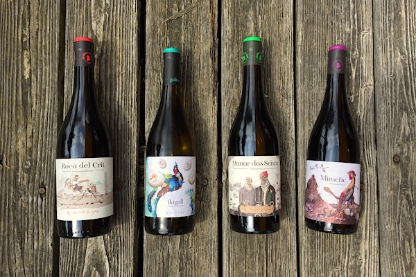 Vier Weine von Gallina de Piel